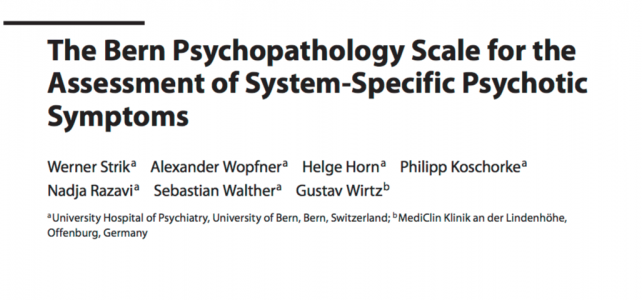Bern Psychopathology Scale